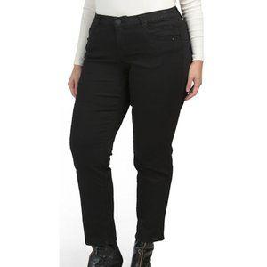 DEMOCRACY Plus Ab Tech Straight Leg Black Jeans 22